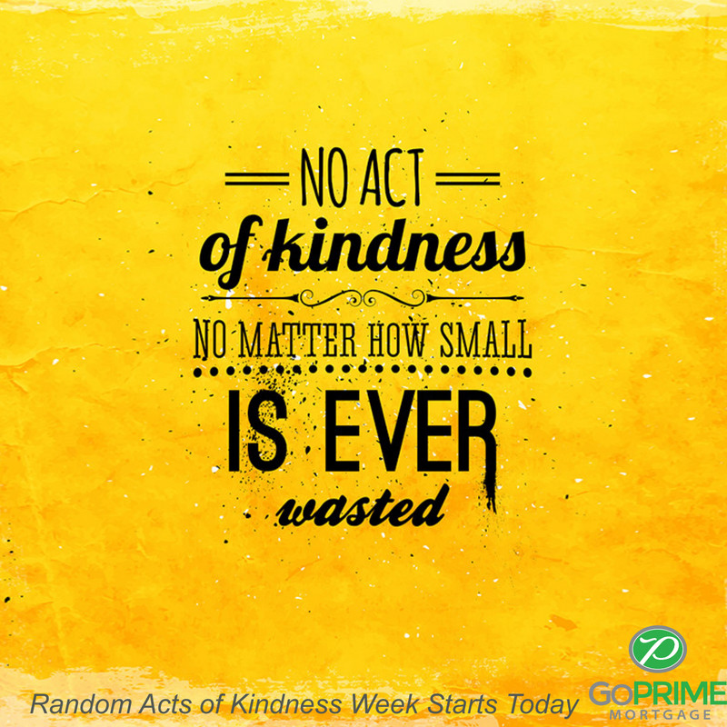 Random Acts of Kindness Week Starts Today