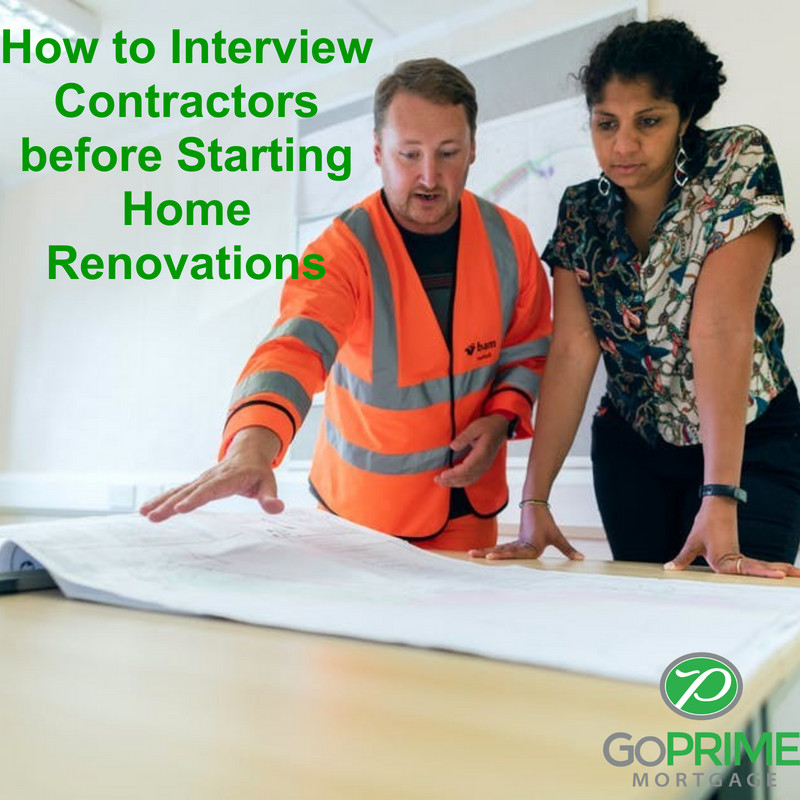 How to Interview Contractors before Starting Home Renovations