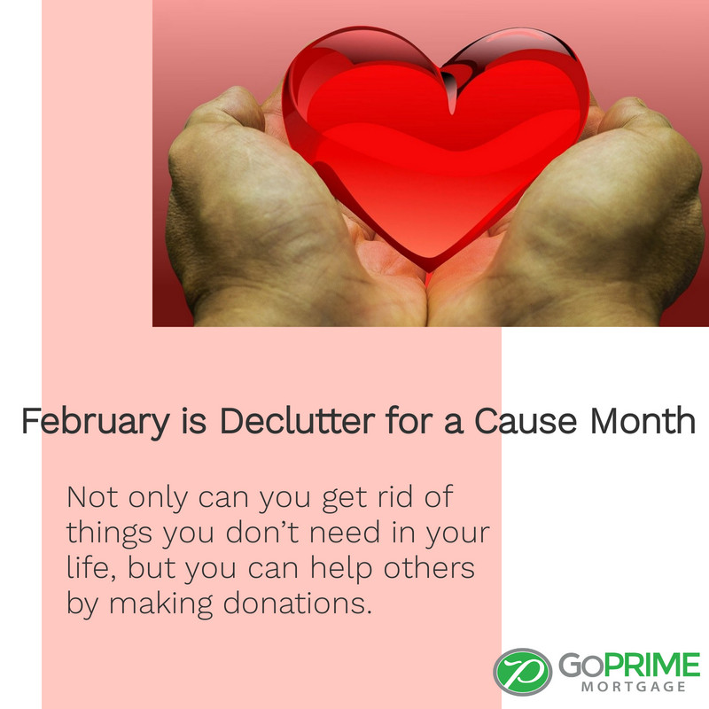 February is Declutter for a Cause Month